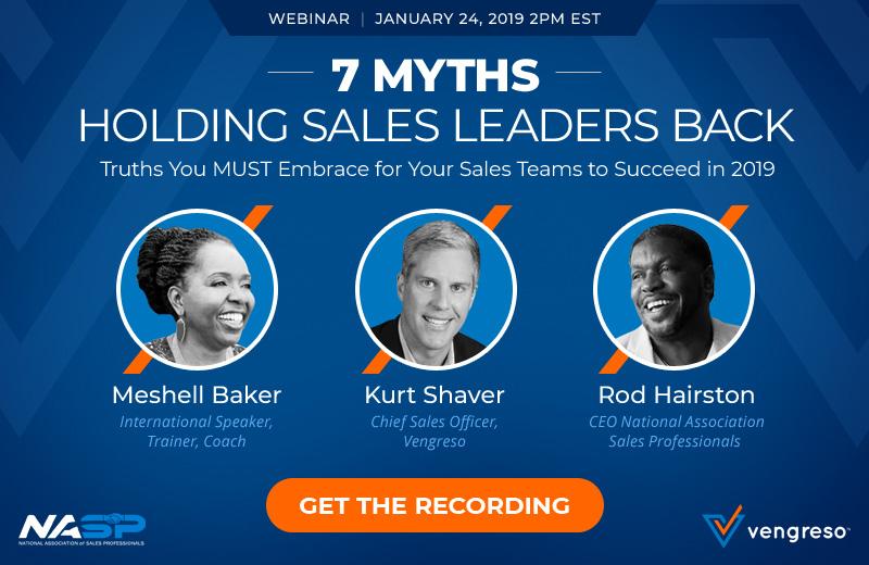 7 Myths Holding Sales Leaders Back